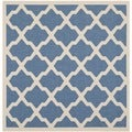 Safavieh Indoor/Outdoor Courtyard Blue/Beige Honeycomb Rug (7'10 Square)