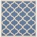 Safavieh Indoor/ Outdoor Courtyard Blue/ Beige Rug (4' Square)