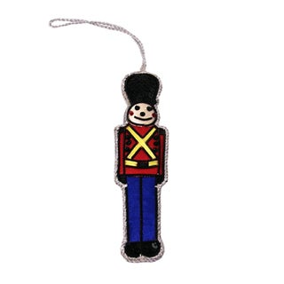 Handcrafted Toy Soldier Ornament (India)