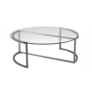 Glass Nickel Coffee Table