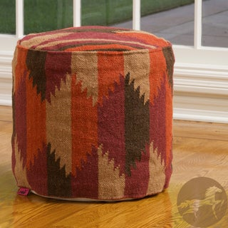 Christopher Knight Home Shawnee Multicolor Wool Pouf Ottoman