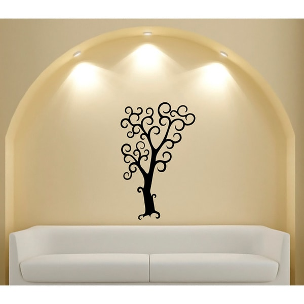 Halloween Tree Glossy Black Vinyl Wall Decal