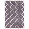 Handmade Lilac/ Moon Beam Blend Wool Area Rug (5' x 8')