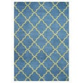 Handmade Aqua Blue/ Aspen Green Blend Wool Area Rug (5' x 8')