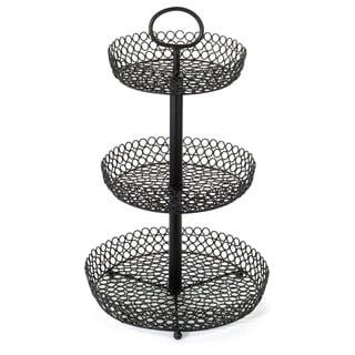 """23"""" Three-Tier Decortive Wire Fruit Basket"""