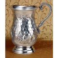 Grape Leaf and Vines Relief Aluminum Pitcher
