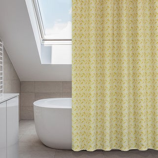 Metro Buttercup/ Mustard Yellow 14-piece Shower Curtain Set