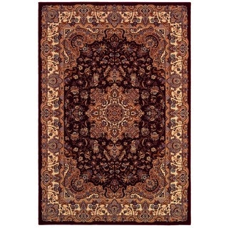 Himalaya Annapurna Antique Cream/ Persian Red Rug (3'11 x 5'3)