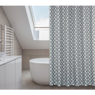Manhattan Elephant Grey 14-piece Shower Curtain Set