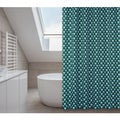 Manhattan Turquoise Shower Curtain, Liner, Rings Set