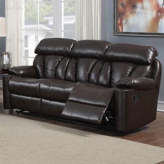 Easton Dual Reclining Bonded Leather Sofa