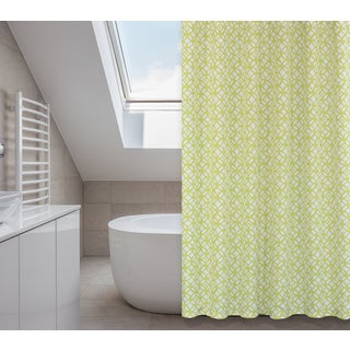 Madison Chartreuse Green 14-piece Shower Curtain Set