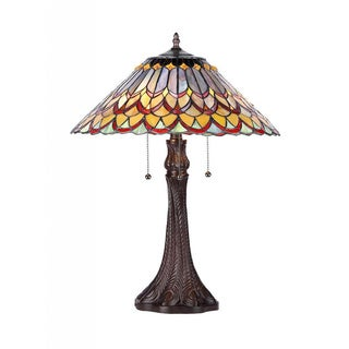 Tiffany Style Layered Design 2-light Table Lamp
