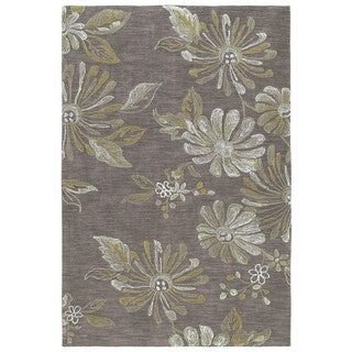 Handmade Copia Light Brown Polyester Rug (5' x 7'6)