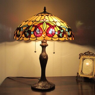 Tiffany Style Victorian Design 2-light Indoor Table Lamp