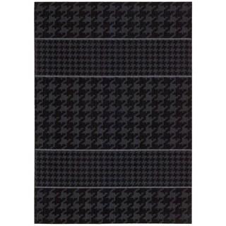Joseph Abboud Griffith Charcoal Area Rug by Nourison (3'6 x 5'6)