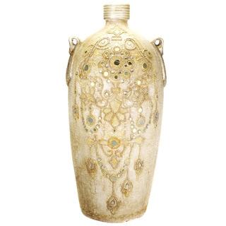 Large Terracotta Decorative Vase (India)