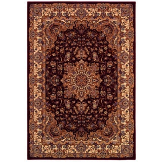 Himalaya Annapurna Antique Cream/ Persian Red Rug (7'10 x 11'2)
