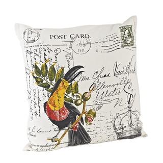 Toucan Design 18-inch Down Fill Throw Pillow