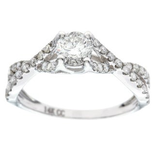 14k White Gold 1ct TDW Round Diamond Engagement Ring (G-H, I1)