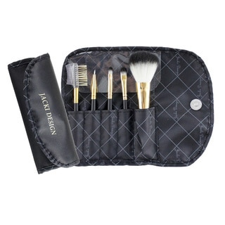 Vintage Allure 5-piece Makeup Brush and Carrying Case Set by Jacki Design