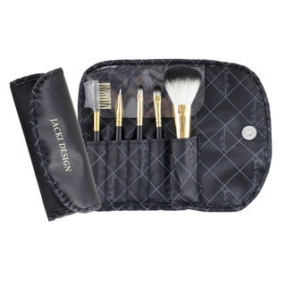 Vintage Allure 5-piece Makeup Brush and Case Set