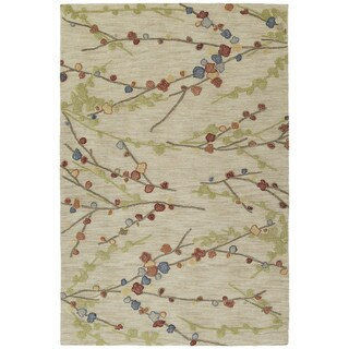 Copia Sand Blossom 5x7.6 Polyester Rug
