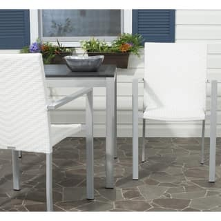 Cordova Off White Indoor Outdoor Stackable Arm Chair (Set of 2)
