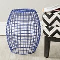 Eric Dark Blue Grid Stool