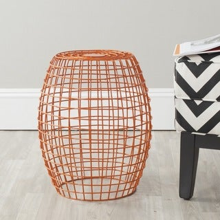 Safavieh Eric Orange Grid Stool
