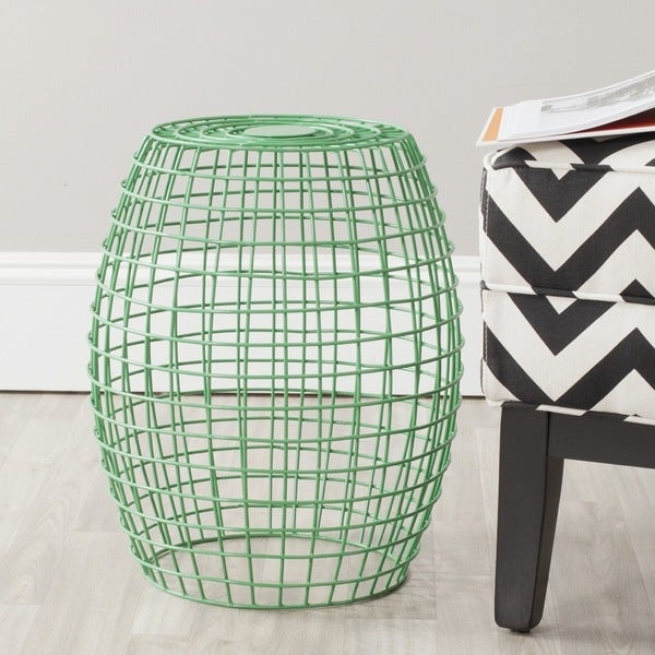 Safavieh Eric Green Grid Stool