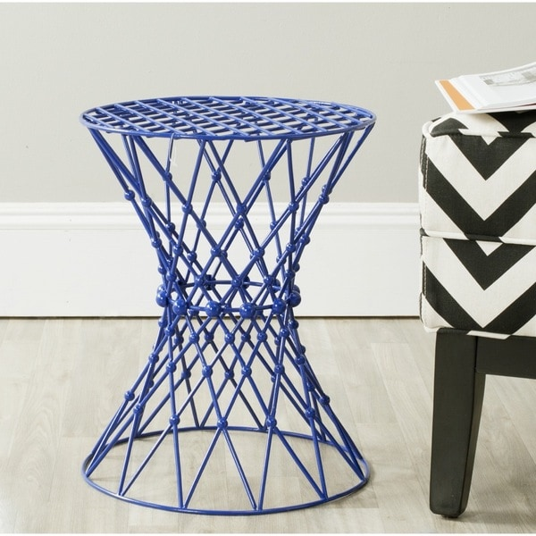 Safavieh Charlotte Dark Blue Iron Wire Stool