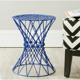 Charlotte Dark Blue Iron Wire Stool