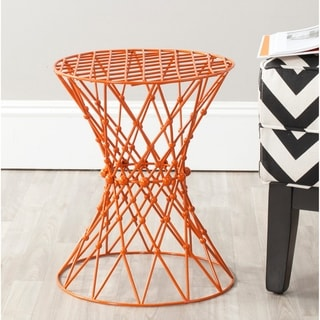 Safavieh Charlotte Orange Iron Wire Stool