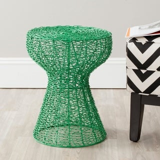 Safavieh Tabitha Green Iron Chain Stool
