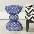 Leila Dark Blue Iron Wire Stool