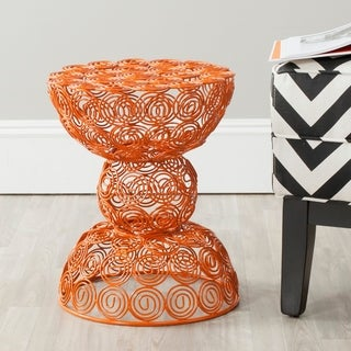 Leila Orange Iron Wire Stool
