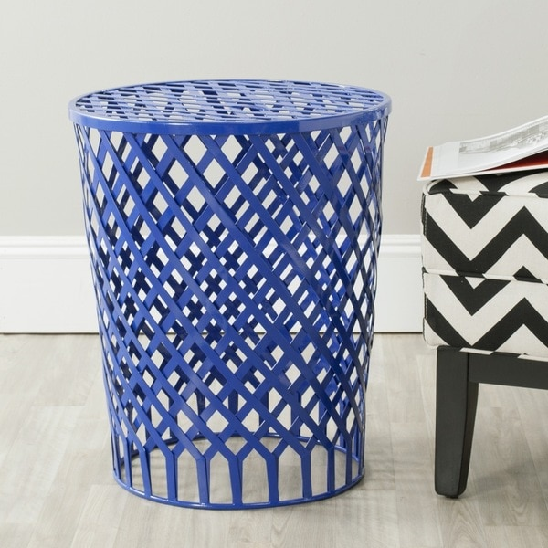 Safavieh Thor Dark Blue Welded Iron Strips Stool