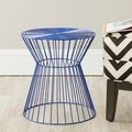 Adele Dark Blue Iron Wire Stool