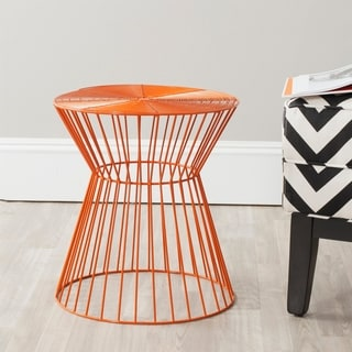 Safavieh Adele Orange Iron Wire Stool
