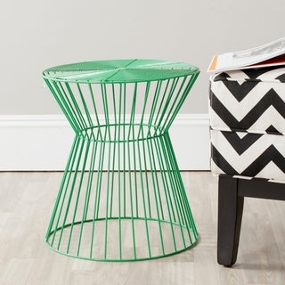 Safavieh Adele Green Iron Wire Stool