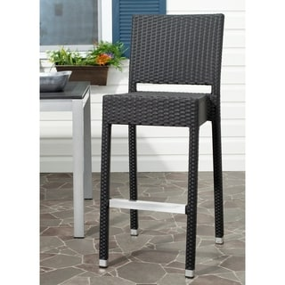 Safavieh Bethel Black Indoor/Outdoor 29.5-inch Bar Stool