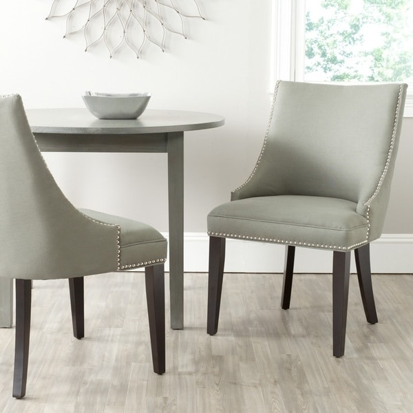 afton granite linen fabric side chair dining chairs living room set of