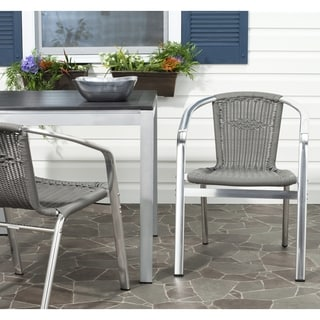 Wrangell Grey Indoor Outdoor Stackable Arm Chair (Set of 2)