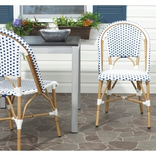 Safavieh Salcha Red/ White Indoor Outdoor Stackable Side Chair (Set of 2)