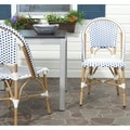 Salcha Red/ White Indoor Outdoor Stackable Side Chair (Set of 2)