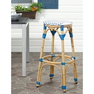 Kipnuk Blue/ White Indoor Outdoor Stool