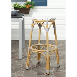Kipnuk Grey/ White Indoor Outdoor Stool