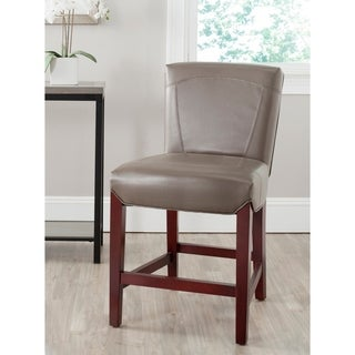 Ken Clay Bi-cast Leather Counter Stool