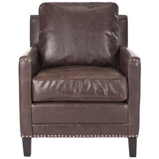 Safavieh Buckler Antique Brown Club Chair